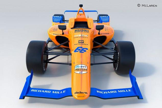 Presentado el McLaren de Alonso para las 500 Millas de Indianápolis - SoyMotor.com