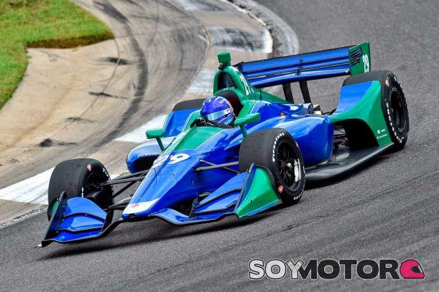 Fernando Alonso en su test en Barber - SoyMotor