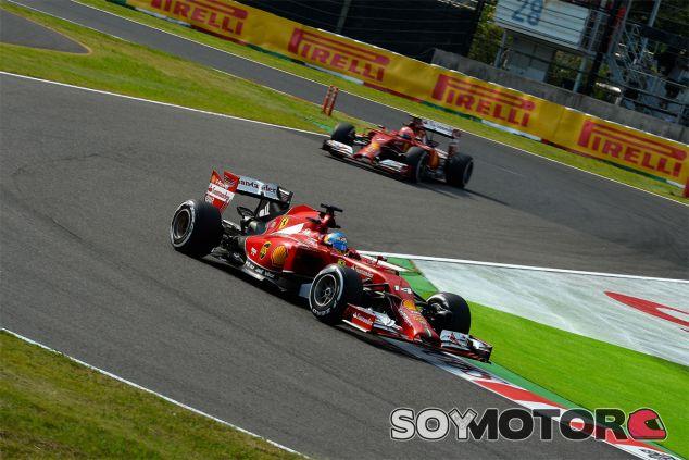 Fernando Alonso y Kimi Räikkönen en la chicane de Monza - LaF1