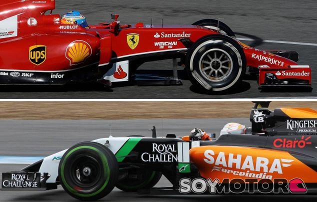 Alonso y Juncadella escoltan a Massa ante los problemas de Red Bull