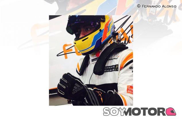 La imagen que Fernando Alonso ha compartido a través de las redes sociales - SoyMotor