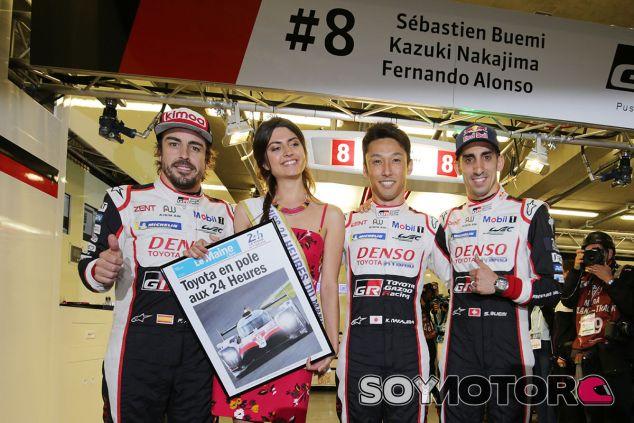 Fernando Alonso, Kazuki Nakajima y Sébastien Buemi, Pole en Le Mans - SoyMotor