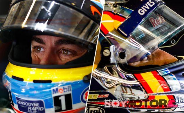 Fernando Alonso y Carlos Sainz en Abu Dabi - LaF1