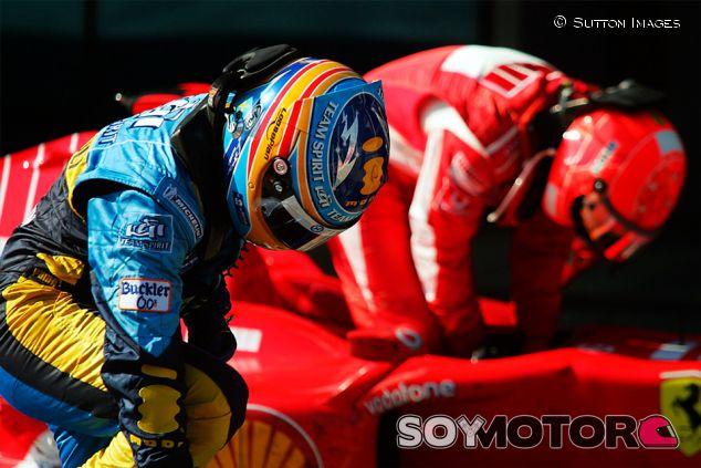 Fernando Alonso y Michael Schumacher en Turquía - SoyMotor.com