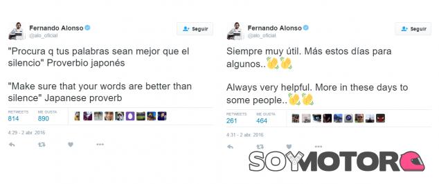 Las publicaciones de Twitter de Fernando Alonso - LaF1