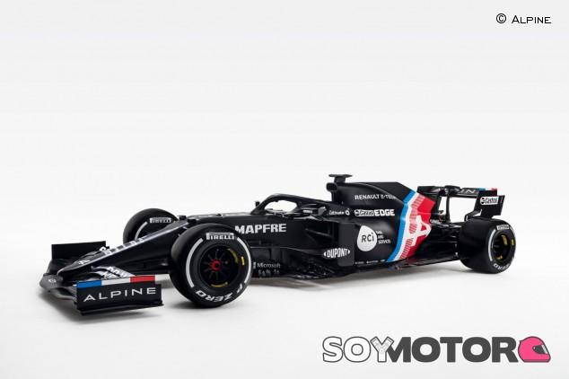 Alpine presenta el A521: el F1 2021 de Alonso con decoración provisional - SoyMotor.com