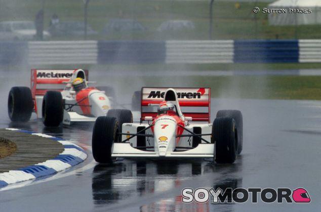 Michael Andretti delante de Ayrton Senna– SoyMotor.com