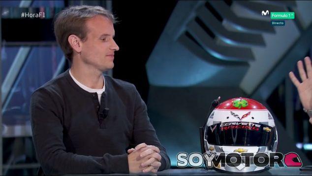 Antonio García en el plató de Movistar+ F1 - SoyMotor