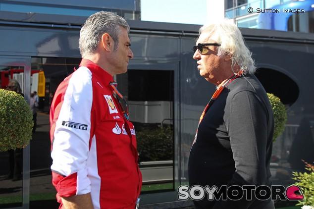 Maurizio Arrivabene y Flavio Briatore en Monza - SoyMotor.com