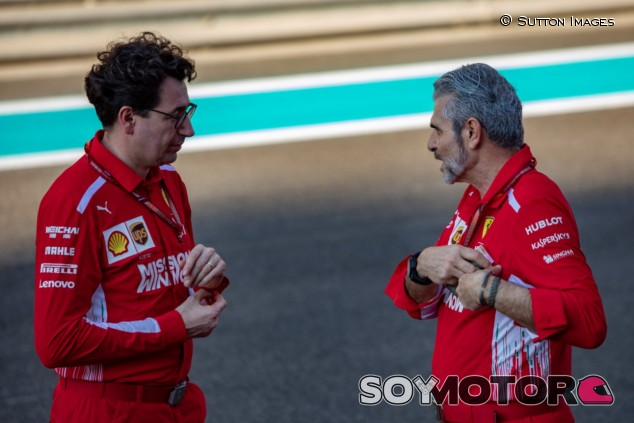 Mattia Binotto (izq.) y Maurizio Arrivabene (der.) – SoyMotor.com