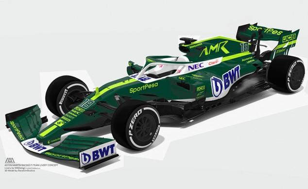 Un diseñador imagina cómo puede ser el Fórmula 1 de Aston Martin - SoyMotor.com