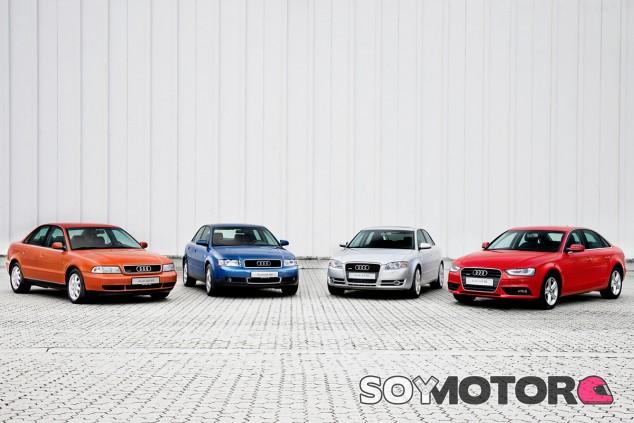 Evolución del Audi A4 durante 25 años de historia - SoyMotor.com