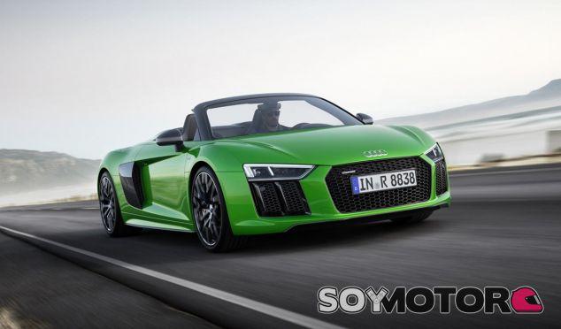 El Audi R8 Spyder V10 Plus presenta una carrocería en verde exclusiva de esta versión - SoyMotor