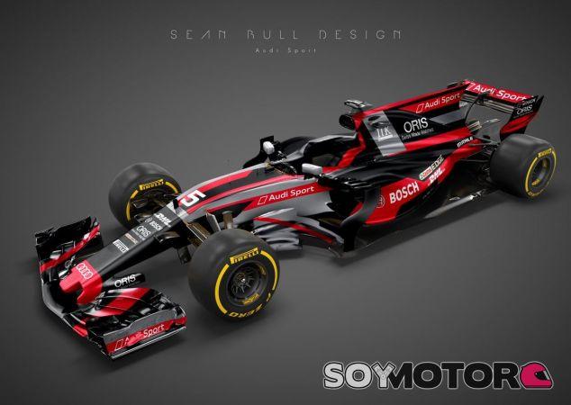 Concepto de diseño de un Audi de F1 por Sean Bull - SoyMotor