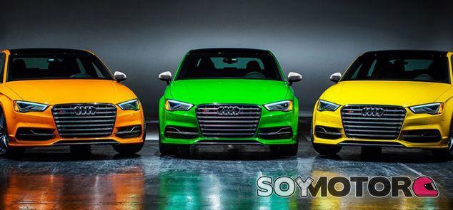 Tres Audi S3 de colores peculiares - SoyMotor