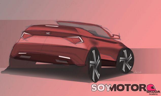 Primer boceto del Skoda Karoq convertible diseñado por estos jóvenes - SoyMotor