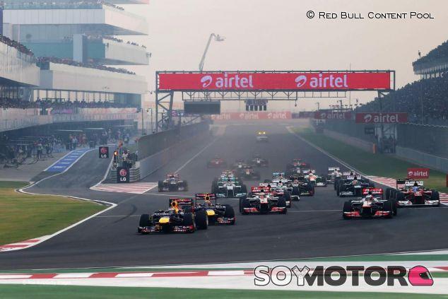 Salida del GP de India en 2012 - LaF1.es
