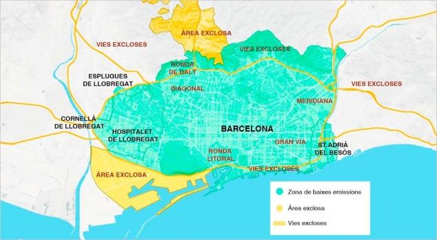 La Zona de Bajas Emisiones de Barcelona - SoyMotor.com