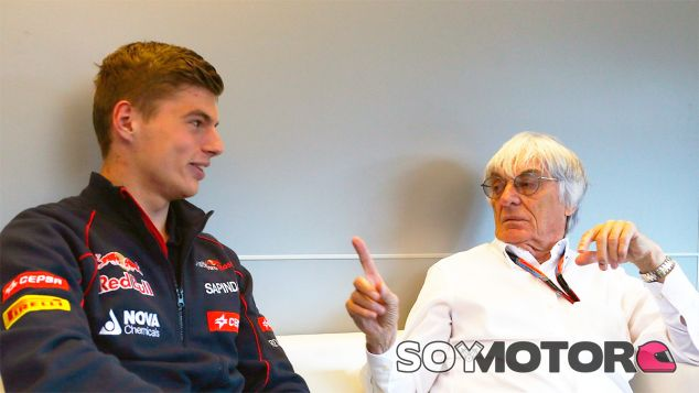 Max Verstappen y Bernie Ecclestone - LaF1