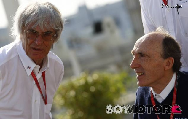 Bernie Ecclestone junto a Sir Frank Williams - LaF1