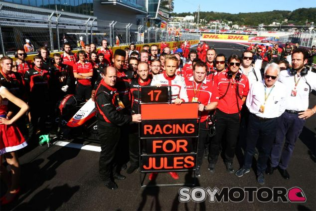 Marussia mandó un mensaje de afecto a Jules desde la parrilla de Sochi - LaF1