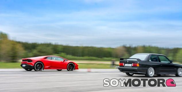 Un BMW M3 planta cara a un Lamborghini Huracán LP580 - SoyMotor.com