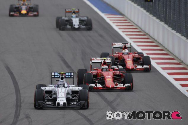 Bottas y Räikkönen rodando juntos en Sochi, al final, se tocarían - LaF1