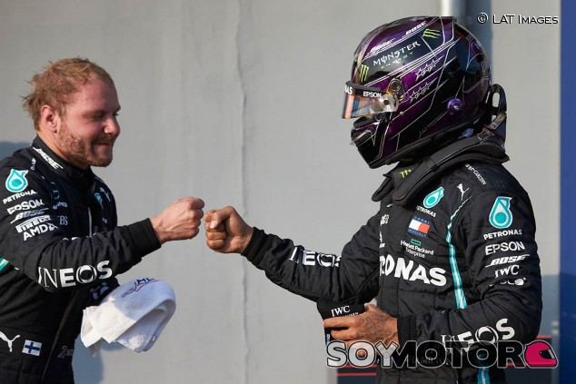 Bottas y Hamilton en Imola - SoyMotor.com