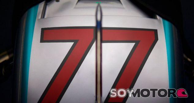 Así luce el dorsal de Bottas en el Mercedes - SoyMotor