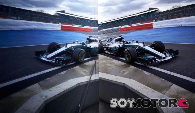 Valtteri Bottas durante el filming day de Mercedes en Silverstone - SoyMotor