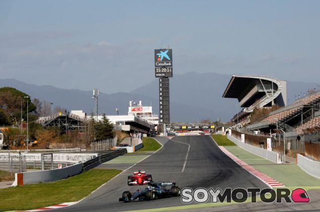 Bottas y Vettel en los tests del Circuit de Barcelona-Catalunya - SoyMotor