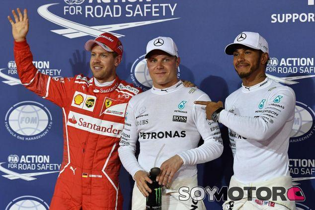 Vettel, Bottas y Hamilton en Baréin - SoyMotor