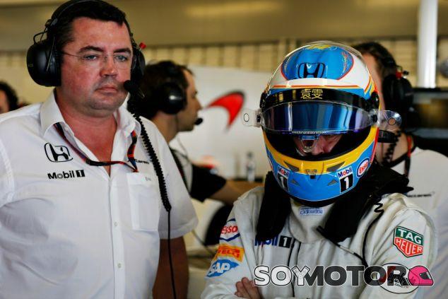 Boullier fija como objetivo conseguir un podio en 2016 - LaF1