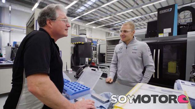 Valtteri Bottas en Brixworth - SoyMotor