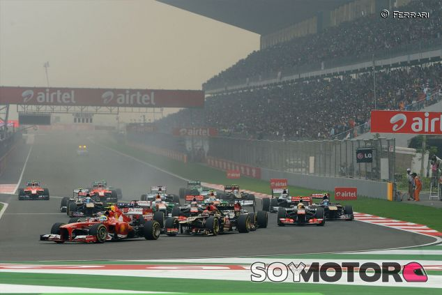 Salida del Gran Premio de la India - LaF1