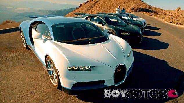 Las cuatro unidades de test del Bugatti Chiron esperan para seguir su camino - SoyMotor