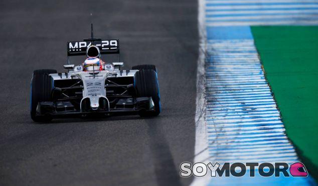 Jenson Button durante los tests de Jerez - LaF1