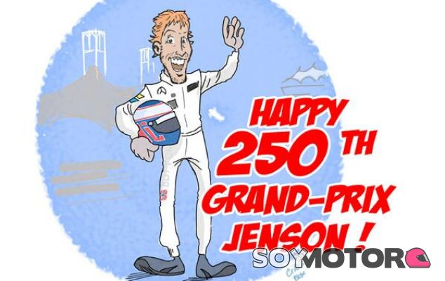 Jenson Button cumple 250 carreras en Fórmula 1 - LaF1