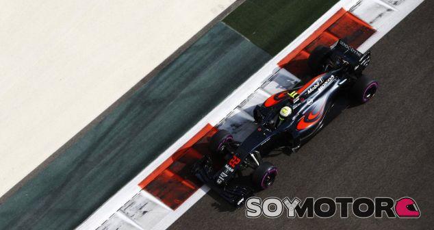 Button durante su último Gran Premio en Fórmula 1 - SoyMotor