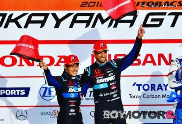 Naoki Yamamoto y Jenson Button en Okayama - SoyMotor.com