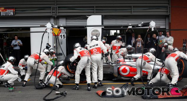 Jenson Button en Spa-Francorchamps