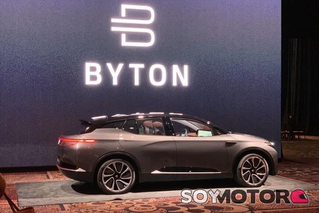 Tanto el Byton M-Byte en imagen como el K-Byte estuvieron presentes en el CES - SoyMotor.com