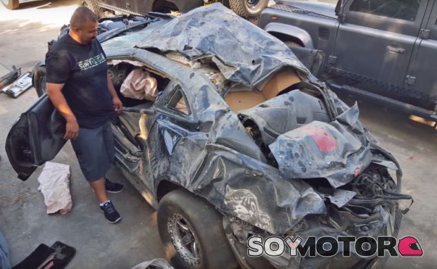 Estado del Camaro después del accidente - SoyMotor