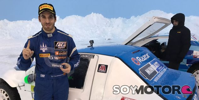 Sergio Canamasas con su coche en Andorra - SoyMotor