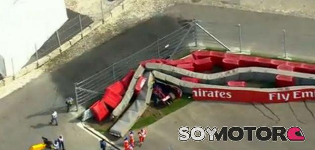 Accidente de Carlos Sainz en los Libres 3 del GP de Rusia 2015 - LaF1