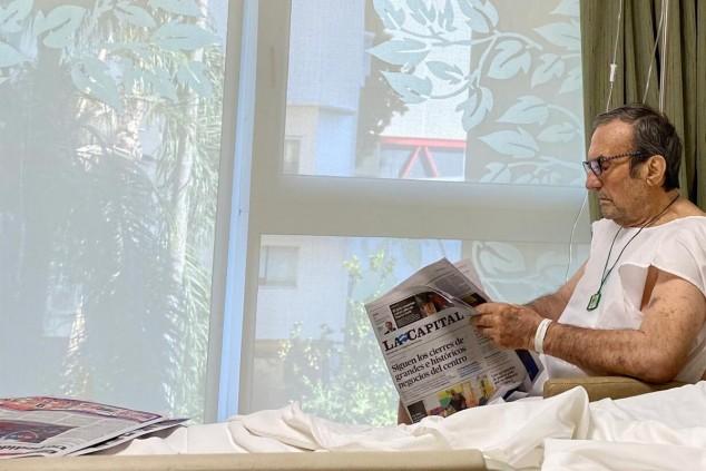 Carlos Reutemann, esta mañana en una fotografía divulgada por su hija - SoyMotor.com