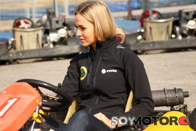 Carmen Jordá, hoy en el Kartòdrom Catalunya - LaF1