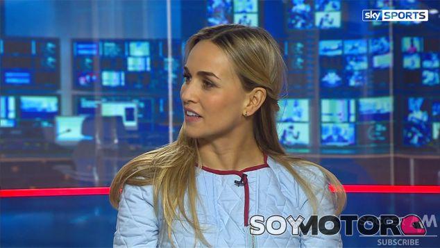 Carmen Jordá durante la entrevista con Sky Sports - LaF1