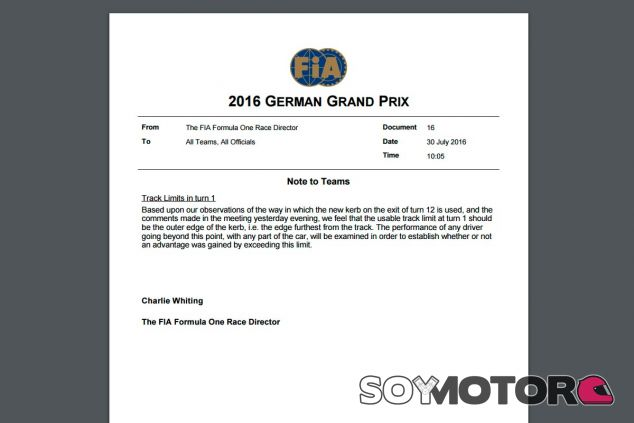 La carta de Charlie Whiting - LaF1