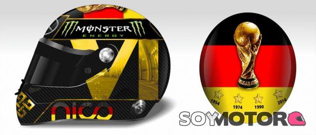 El diseño del casco de Rosberg para Alemania, en peligro por la FIFA